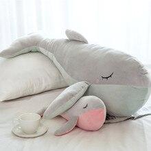 Soft Whale Plush Toy Stuffed Sea Animals Cute Sleeping Pillow Sofa Cushion Gifts For Children Girls Birthday Gift