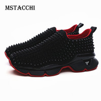 MStacchi New High Quality Fashion Men Sneakers Rivets Thick Sole Slip On Casual Daddy Shoes Outdoor Tide Brand Walking Men Shoes