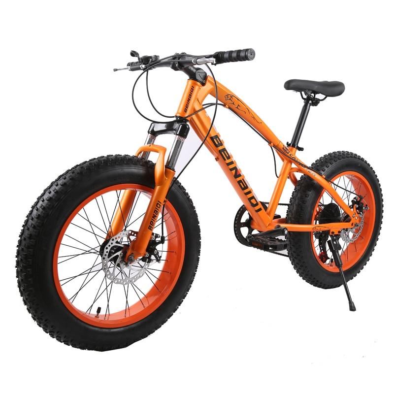 26 Inch Snow Bike,High Carbon Steel Frame Fat Bike, 4.0 Width Aluminum Alloy Sand Wheel Bike,Front & Rear Disc Brake