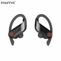 HAAYOT Sport Bluetooth 5.0 Headphones Wireless Stereo Earphones Big Power Bass Headset TWS Handsfree Earbuds With Micrphone