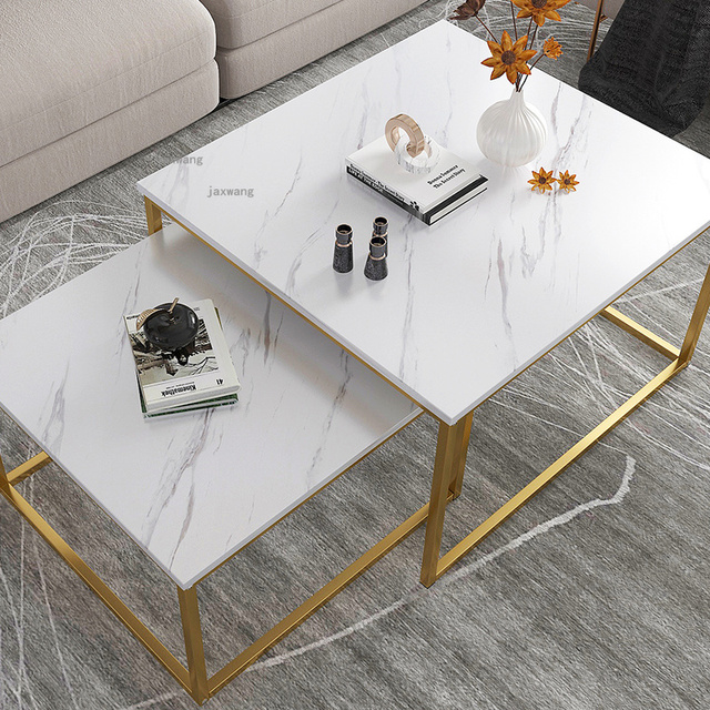 Marble Squared Coffee Table Comb Set 3