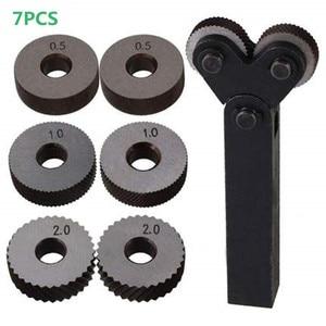 Image 1 - Dual Wheel Knurling Tool Kit 7pcs 0.5mm 1mm 2mm Wheel Linear Pitch Knurl Set Steel Lathe Cutter Wheel Knurling Tool Set