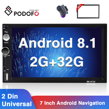 Hikity 2 + MP5 32GB Android 8.1 Car Multimedia Player 2 Din Wi-fi Autoradio 7 \