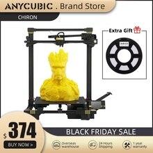 Anycubic impresora 3d anycubic Chiron Plus, tamaño de impresión grande, barata, 400x400x450mm, Kits de impresión DIY, FDM, TFT