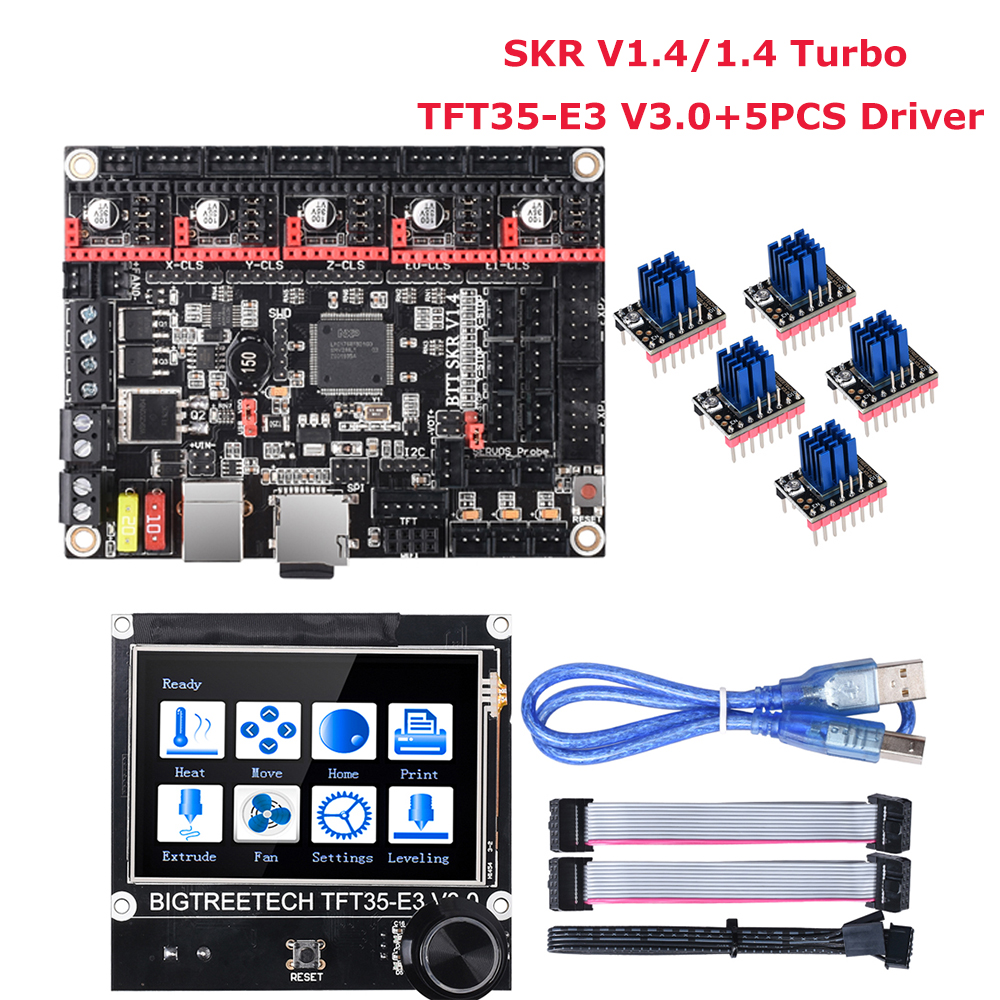 BIGTREETECH BTT SKR V1.4 Control Board SKR V1.4 Turbo TFT35-E3 V3.0 Touch Screen TMC2208 TMC2209 3D Printer Parts VS MKS GEN L