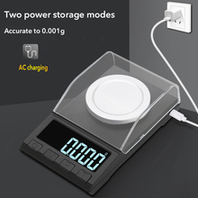 USB Charging Digital Scale 10/20/50/100g 0.001g High Precision Jewelry Weighing Balance Electronic Scale With Weighting Platform цены онлайн