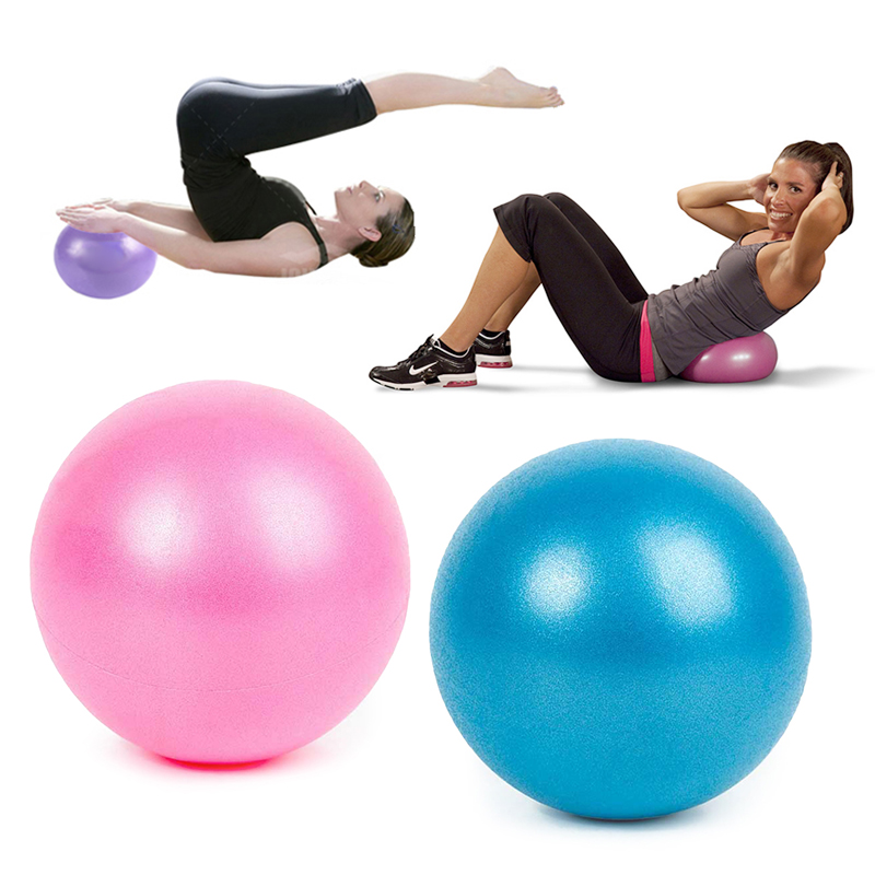 25CM Diameter Pilates Yoga Ball Anti-Pressure Massage Balance Ball Explosion-Proof Fitball Gym Home Fitness Workout Yoga Ball