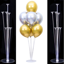 7 Tubes Balloon Stand Holder Column Plastic Stick for Birthday Party Wedding Decorations Baloon Support