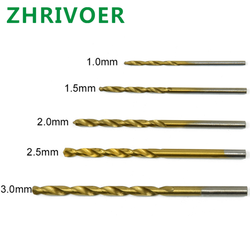 High speed steel titanium plated twist drill straight shank electric hand drill 170pc combination 1.0-3.0mm round shank drill
