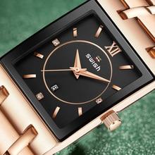 Bracelet Watches Rosegold Clock Quartz Ladies Dress Design Waterproof Women Luxury Relogio