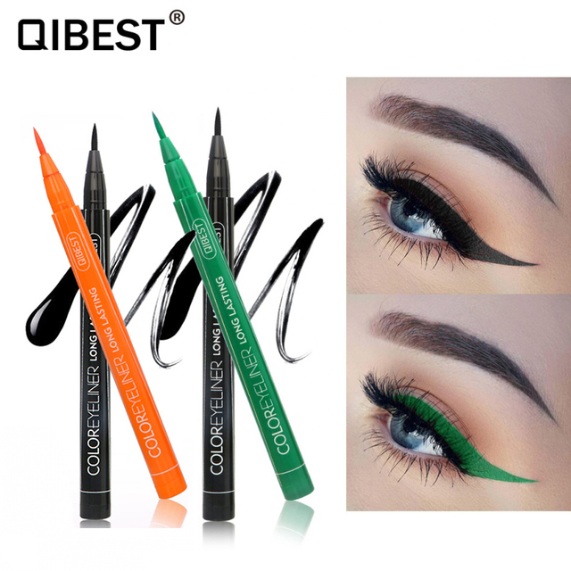 Hot 12 Color Eye Pencil Waterproof Eyeliner Liquid Make Up Matte Eye Liner Green Red Blue Brown Black Eyliner Easy To Wear