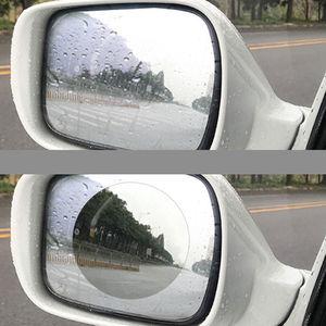 Image 2 - 2 pièces/ensemble Anti brouillard voiture miroir fenêtre Film transparent Anti éblouissement voiture rétroviseur Film protecteur étanche étanche à la pluie voiture autocollant