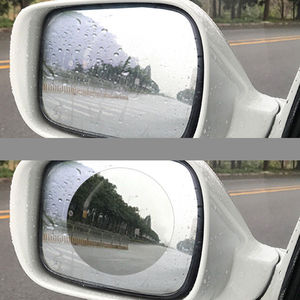 Image 2 - 2PCS/Set Anti Fog Car Mirror Window Clear Film Anti glare Car Rearview Mirror Protective Film Waterproof Rainproof Car Sticker