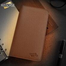 KISSCASE יוקרה עמיד עור ארנק פאוץ מקרה טלפון עבור iPhone סמסונג Huawei Xiaomi Meizu כיסוי נייד טלפון תיק מקרי