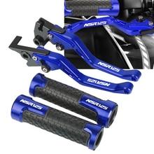 Motorcycles Accessories Aluminum Handle grips handlebar grip & short Brake Clutch Levers For HONDA NSR125 1988 1990 1989 NSR 125