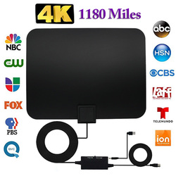 Professional Carbon Fibre 1180 Miles TV Antenna Indoor TV Digital HD Antenna 4K HD Television Switch Amplifier Signal Booster