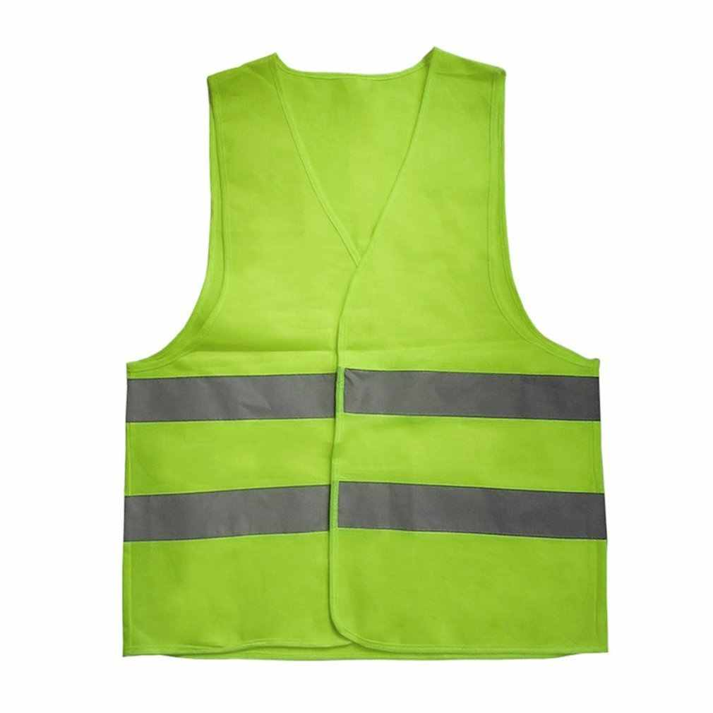 New hot Unisex L XL XXL XXXL Reflective Vest Workwear Provides High Visibility Day Night Running Cycle Warning Child Safety Vest