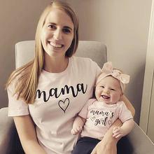Camisetas a juego para mamá y yo, ropa para madre e hija, regalo para nuevo bebé