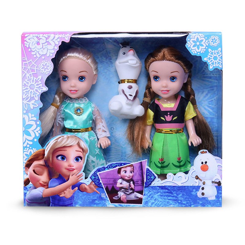 Disney Frozen 2 Toys Princess Elsa Toy Anna Dolls & Accessories Olfa Good Quality Gifts  Plastic Baby Dolls For Girls