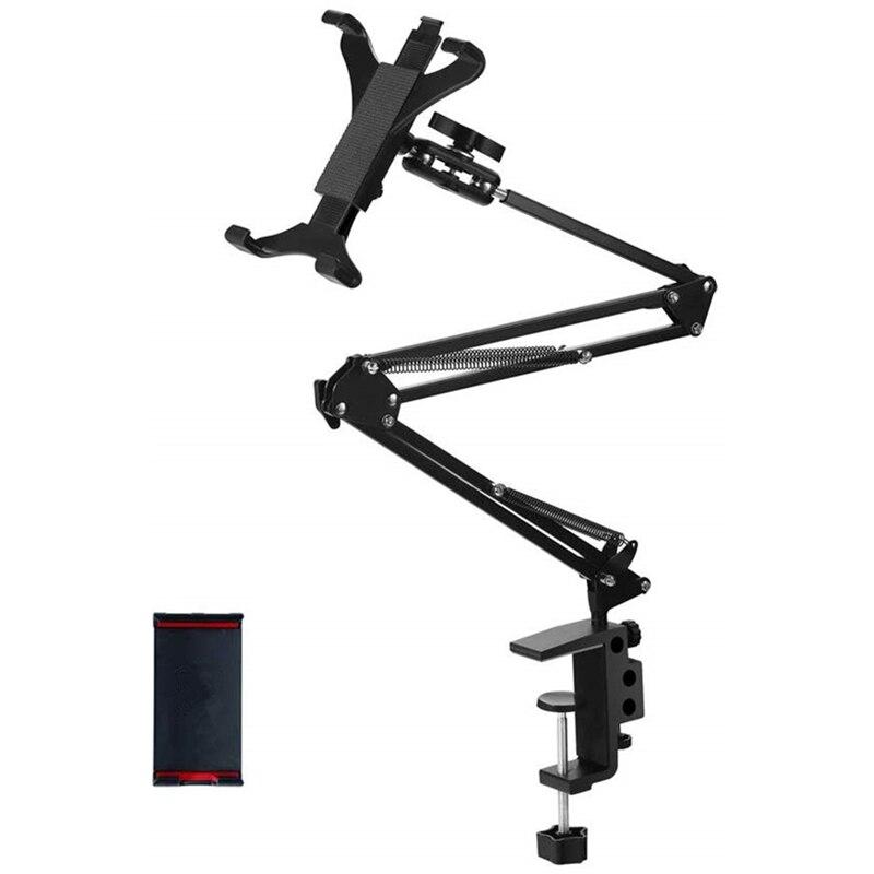 Support de tablette de téléphone pliable support de tablette de lit de Table à bras Long réglable universel en aluminium pour iPad Air Mini Pro 4-13''