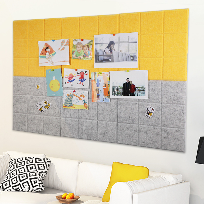 4pcs Colorful Felt Cloth Message Board Wall Bulletin Board Home Decoration Office Schedule Plan Note Board Photo Display Board