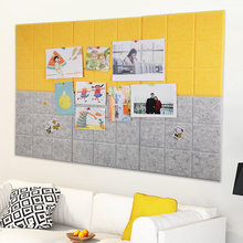 4pcs Colorful Felt Cloth Message Board Wall Bulletin Home Decoration Office Schedule Plan Note Photo Display