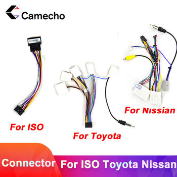 Camecho 2din car Android radio cable Wire Harness Adapter Connector Plug Cabl for Volkswagen ISO Hyundai Kia Honda Toyota Nissan image