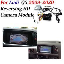 Câmera de visão traseira dianteira do carro para audi q5 2009-2019 2020 retrovisor backup invertendo estacionamento cam completo hd ccd decodificador acessórios