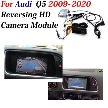 Car Front Rear View Camera For Audi Q5 2009-2019 2020 Rearview Backup Reversing Parking CAM Full HD CCD Decoder Accessories car rear view rearview backup camera for audi a1 8x 2010 2018 reverse reversing parking camera full hd ccd decoder accesories