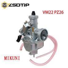 Zsdtrp 26mm carburador vm22 carb para lifan yx ssr crf50 crf70 140 125 110 cc motor mikuni pit bicicleta da sujeira atv