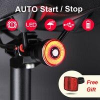 Sensor de freno Encendido / apagado automático COB Luz trasera de bicicleta Carga USB IPx6 Impermeable LED Luz de bicicleta Ciclismo Luz trasera Accesorio de bicicleta|Luz de bicicleta| |  -