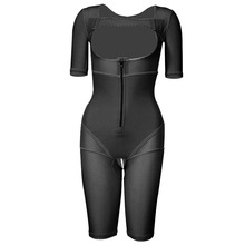 Recovery Body Corset Compression Breast Lifter Shapers Women Chest Shaper Slimming Waist Bodysuits Short Sleeves Shapewear
