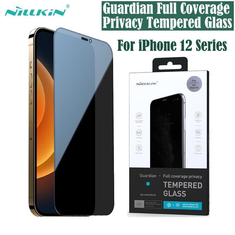 Для iPhone 12 Pro Max закаленное стекло для iPhone12 Nillkin Guardian полное покрытие защита экрана конфиденциальности для iPhone 12 Mini 12 Pro