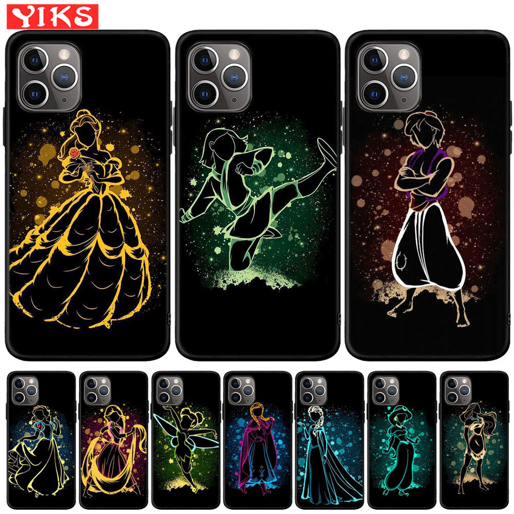 Hot Sale Queen Princess Alice Ariel Cartoon Phone Case For iPhone 11 Pro XS Max X XR 8 7 6 6S Plus 5 5S SE Soft TPU Coque Fundas