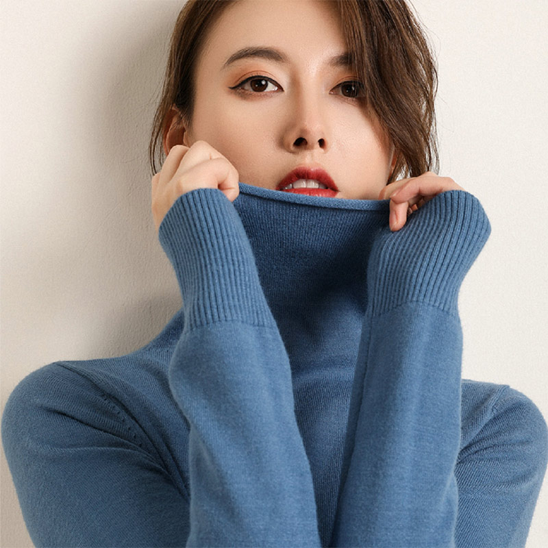 Autumn Winter Cashmere Turtleneck Pullovers Women Korean Long Sleeve Slim Sweaters Female 2019 New Pull Sweater Ladies Pullovers