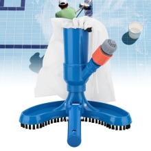 Portable Swimming Pool Pond Fountain Vacuum Brush Cleaner Cleaning Tool