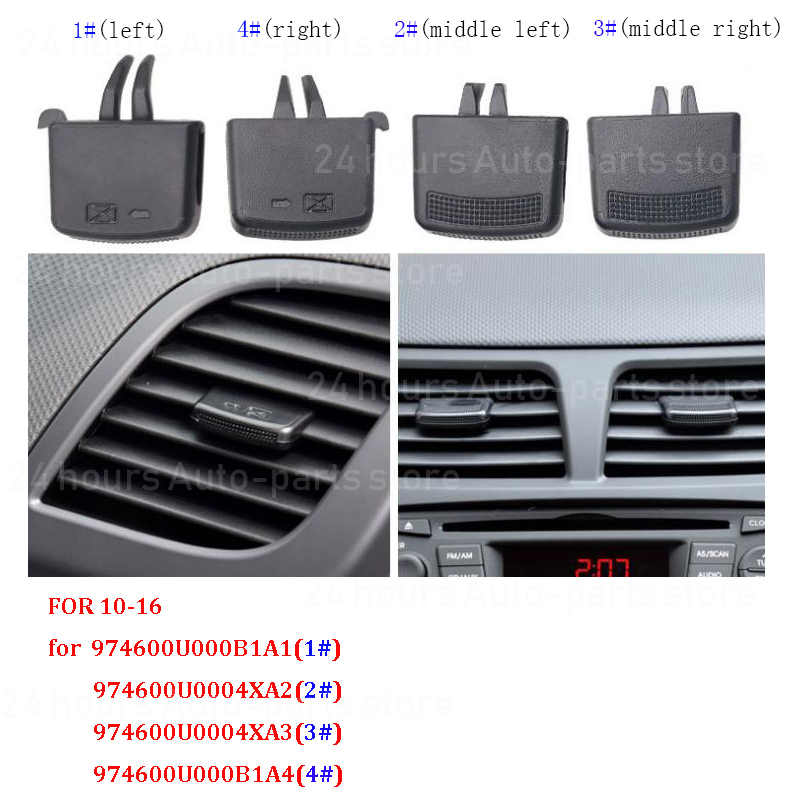 Auto A/C Air Vent Grille Tab Clip Auto Airconditioner Outlet Reparatie Kit Voor Hyundai Verna Solaris 2010-2016