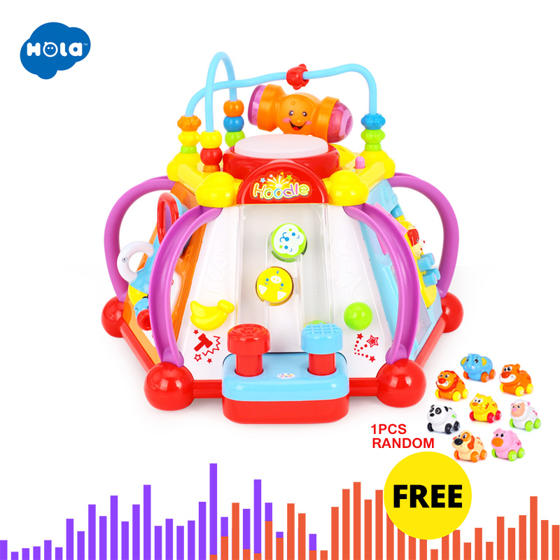 HOLA 806 Musical Activity Cube Toy Development Educational Game Play Learning Center Toy for 1 Year Old Baby Toddler Boys Girls Игрушка