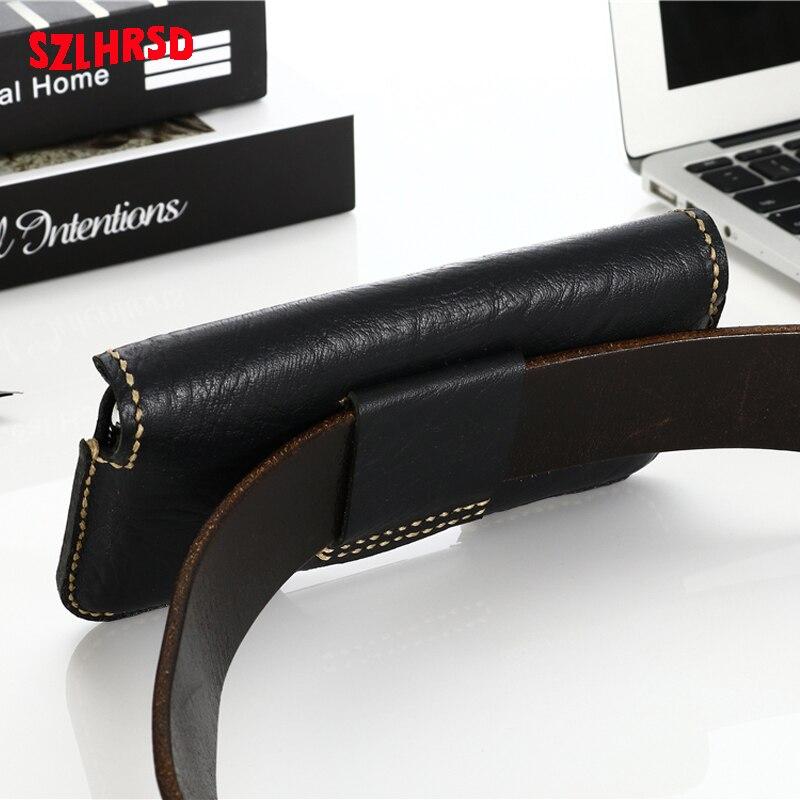 Insert carte ceinture taille sac affaires en cuir véritable étui pour huawei P30 Pro P20 Lite P10 Plus P9 P8 P7 - 4
