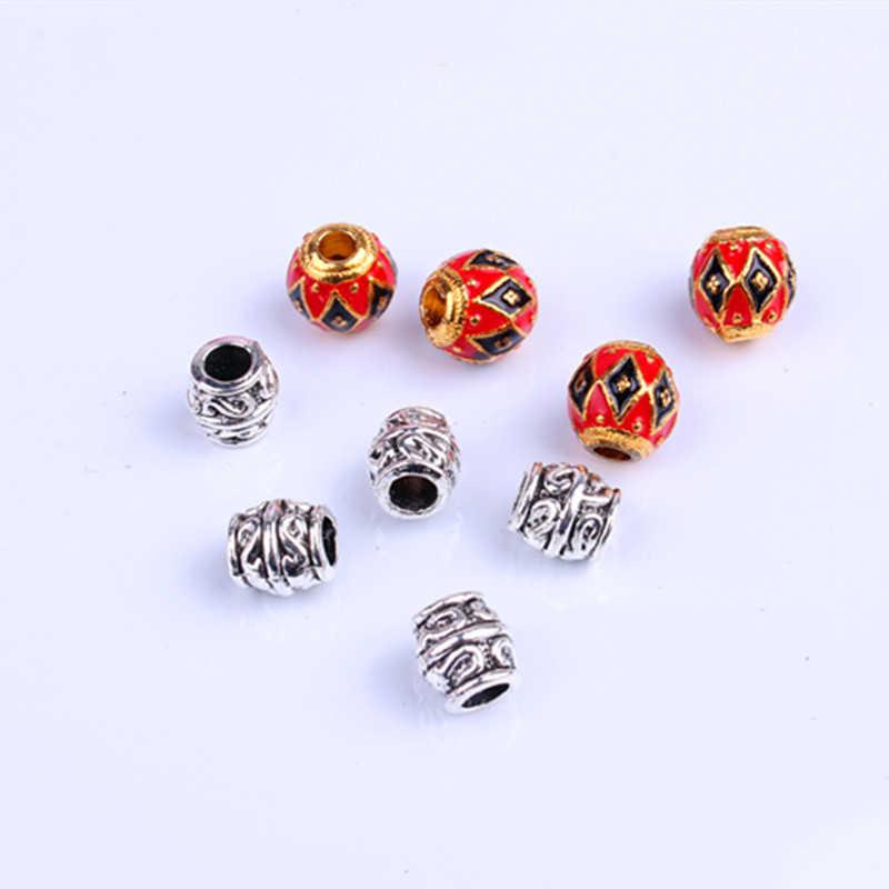 9 unids/set trenza de pelo Dread barba dreadlock cuentas anillos tubo para accesorios para el cabello joyería encontrar