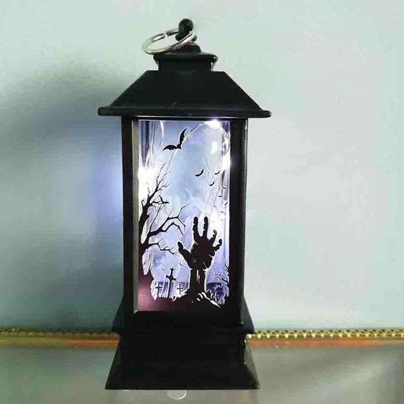 Halloween Pumpkin Light Pumpkin Lamp Hanging Lantern Spider Garden Skeleton LED Party Witch Creative Bat Kids Home Decor