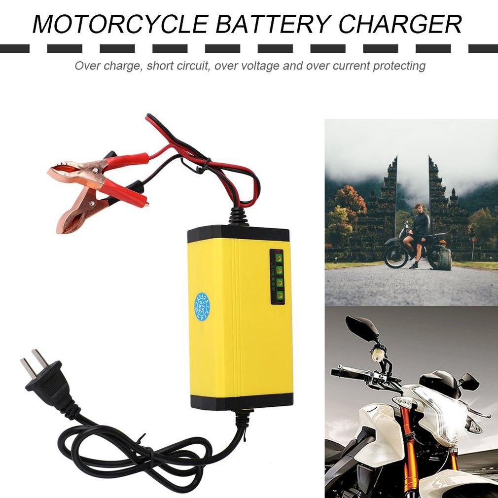 Новый мини портативный 12 В 2A автомобильный аккумулятор зарядное устройство адаптер питания Мотоцикл Авто Смарт зарядное устройство светод...