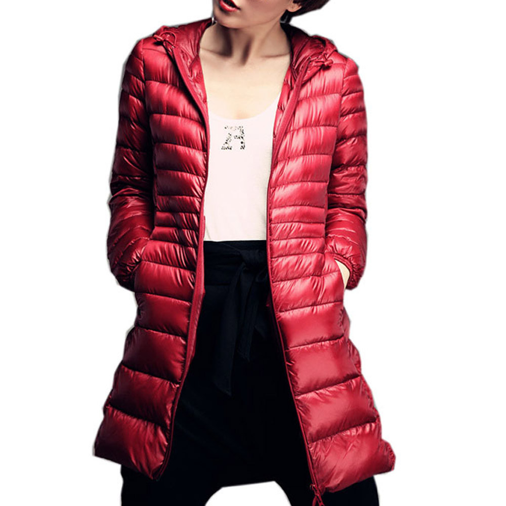 New Winter Jacket Women Thick Thin Cotton Plus Size Casual Down Coat Zippers Long Fashion Warm Soft Female Jacket Outwear 111#5