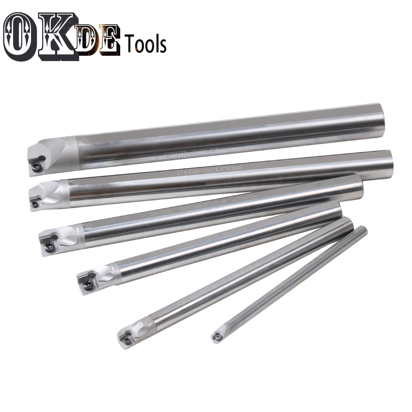 Right Side Hard Alloy 5mm 6mm 8mm 10mm 12mm 14MM 16mm 18mm 20mm Solid Carbide Shank SCLCR04 06 09 SCLCR11 CNC Turnig Boring Bar