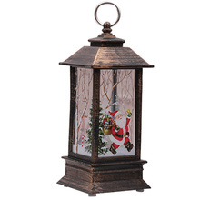 Tea-Light Lantern Christmas-Decorations Lamp Ornament New-Year for Home Santa-Deer Snowman