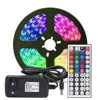 RGB HA CONDOTTO LA Luce di Striscia di RGB 5050 SMD 2835 Nastro Flessibile fita ha condotto la luce di striscia di RGB 5M 10M Nastro diodo DC 12V Adattatore di Controllo A Distanza