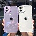 Bunte Stoßstange Stoßfest Trasparent Telefon Fall Für iPhone 12 Mini 11 Pro Max XR X XS Max 8 7 6S Plus SE 2020 Klar Zurück Abdeckung