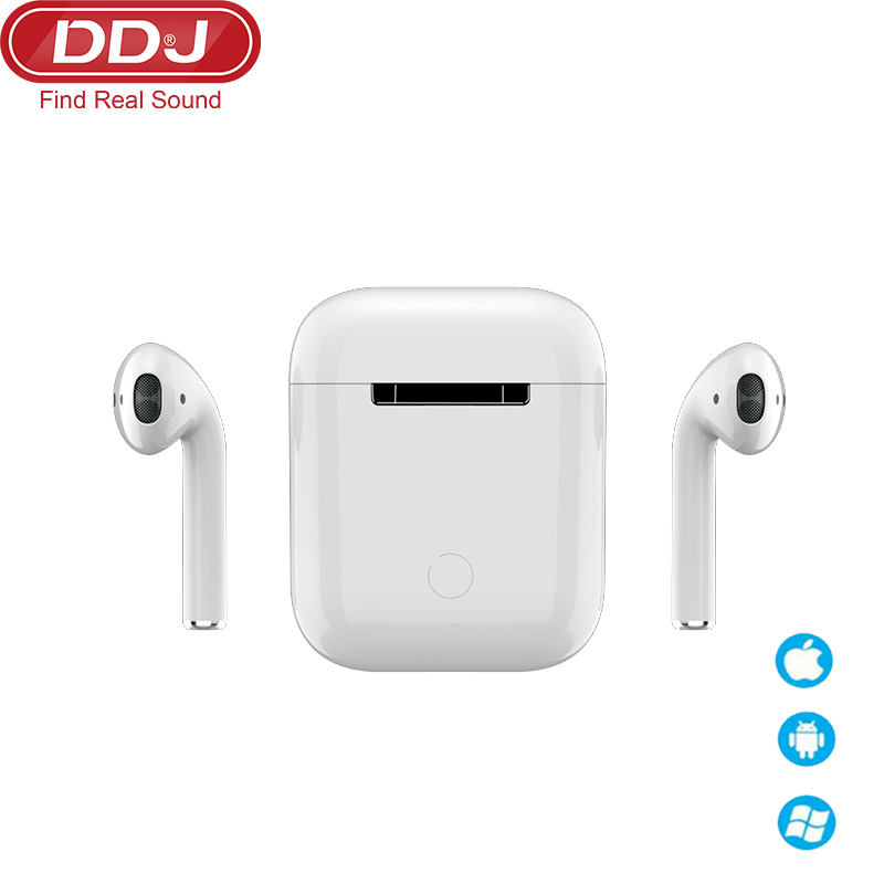 ddj air 3 bluetooth headsets wireless earbuds 5.0 tws <font><b>earphone</b></font> <font><b>noise</b></font> <font><b>cancelling</b></font> mic for xiaomi Huawei samsung long standy time image