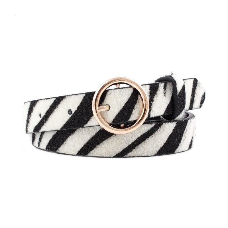 Women Belts Cummerbund Horsehair Belt With Zebra Leopard Pattern Rose Gold Metal Buckle Waist Belts Leopard Serpentine Sexy Belt