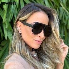 GIFANSEE pilot sunglasses men women Punk Glasses Oversized m